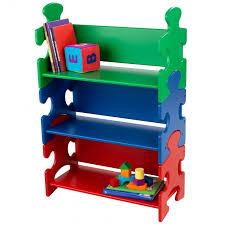 bibliotheque chambre enfant bibliothèque puzzle couleurs primaires pour enfant