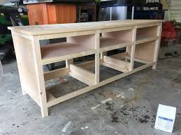 Media Console With Hutch Remodelaholic How To Build A Printmakers Media Console