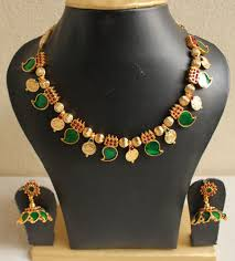 buy gorgeous kerala style palakka necklace set dj04032