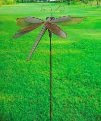 Metal Bugs Garden Decor Another Great Find On Zulily Metallic Dragonfly Stake