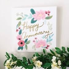 happy anniversary cards happy anniversary gold foil floral card by sonni blush paper co