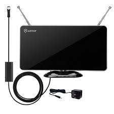 Hd Antenna Map Antop Curved Panel Indoor Hdtv Antenna With Smartpass Amplifier