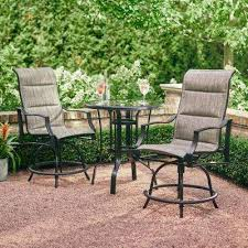 Wicker Bistro Table And Chairs Bar Height Dining Sets Outdoor Bar Furniture The Home Depot