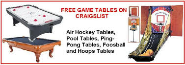 used foosball table for sale craigslist free game tables air hockey tables pool table basketball hoops
