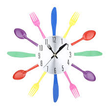 kitchen clock use vintage silverware to upcycle an old kitchen