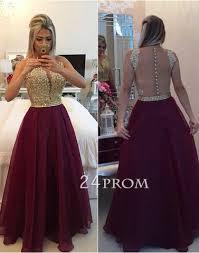 burgundy bridesmaid dresses line neck chiffon lace burgundy prom dress bridesmaid