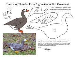 the pilgrim goose felt ornament downeast thunder farm