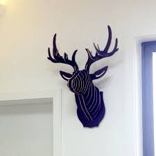 deer decor for home nodic deer head wall wooden crafts for home decorations animal head