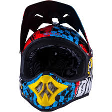 motocross fox mx fox motocross kids helmet navy white v falcon mx freegun neon