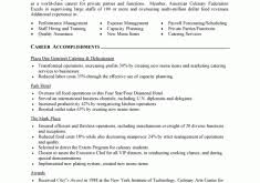 Culinary Resume Sample by Resume Examples For Teens Resume Example