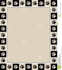 paw prints border stock photo image 21616970