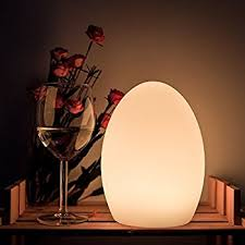 battery powered bedside l egg night light for kids and with remote control 8 dimmable