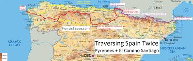 Burgos Spain Map by El Camino Santiago Or The Way Of St James Spain Trails Travels