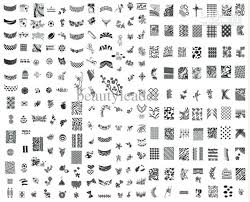 french design 972 different mega and french design sting nail art image plate