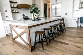 farm table kitchen island smi modern farmhouse kitchen and dining nook sita montgomery