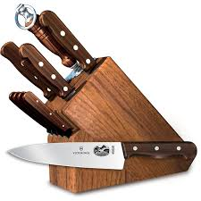 kitchen knives sets victorinox 11 knife set with oak block base rosewood