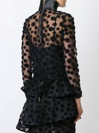 black polka dot blouse house of semi sheer polka dot blouse farfetch