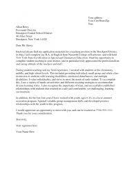 cover letter cover letter for teacher application application