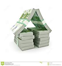 Shape House by Stack Of Euro Money In The Shape Of A House Stock Illustration