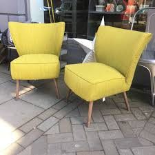 lime green retro style occasional chairs consortium vintage