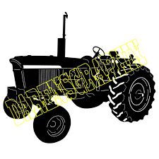 jeep off road silhouette dxffile of a john deere 4020 for use with a cmc machine