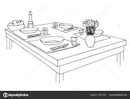 served table plates glasses knives forks and a vase with