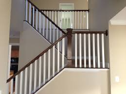 Banister Glass Interior Posts With Wood Top Rail For Modern Barn Home Ideas