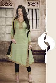 pista green and black designer party wear suit desi royale