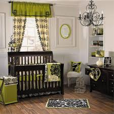Baby Decoration Ideas For Nursery Bedroom Fantastic Black Iron Chandeliers And Brown Walnut