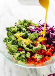 colorful chopped salad with carrot ginger dressing cookie and kate
