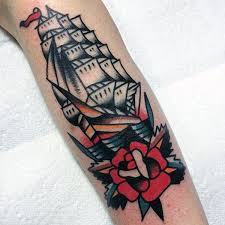 60 traditional ship tattoo designs for men nautical ink ideas