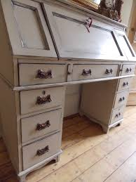 Bombe Secretary Desk by Large 1930s Oak Bureau Pedestal Desk With 9 Drawers Ornate