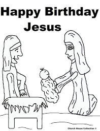 happy birthday jesus coloring pages inside page eson me
