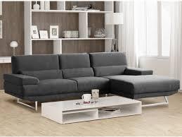 canapé d angle tissu design canapé d angle design en tissu gris et beige vingo