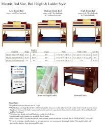 Loft Beds  Adjustable Height Full Size Loft Bed  Bunk Bed - Height of bunk beds