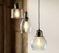 3 Light Pendants Paxton Glass Single Pendants Pottery Barn