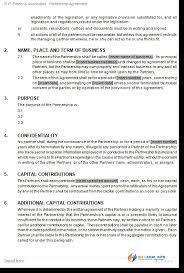 business partnership agreement template australia best resumes