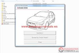 mitsubishi lancer sportback 2010 service manual auto repair