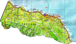 Map Portland by Road Maps For Jamaica And All 14 Parishes Jamaicajamaica