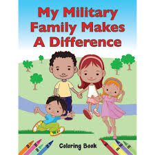 military coloring book military kids