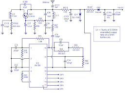 5 channel radio remote control circuit based of tx 2b rx 2b pair