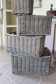 chagne baskets easy way to change decor color maison decor how to brush
