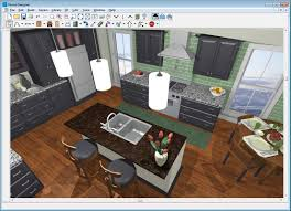 modern 3d kitchen planner with red and white color 3d kitchen