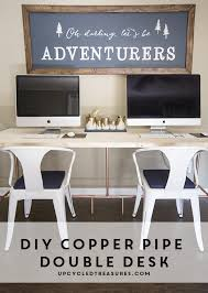Diy Pipe Desk Mountain Modern How To Build A Copper Pipe Desk