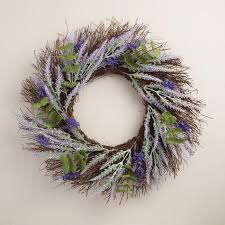 eucalyptus wreath lavender and eucalyptus wreath world market