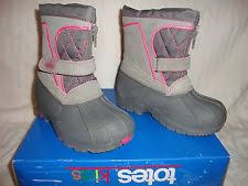 s totes boots size 11 toddler totes waterproof winter boots grey