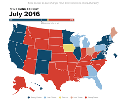 Election Map Results by 50 State Poll Hillary Clinton Still Leads Where It Matters