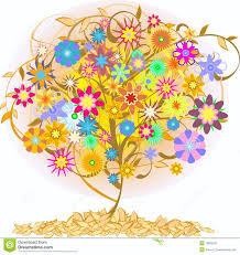 color tree stock vector illustration of abstract floral 18653291