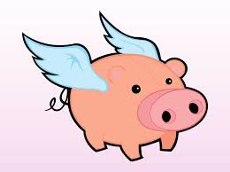 flying pig vector art u0026 graphics freevector