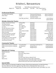 theatrical resume format resume format 98a2399f3e84e344a1a65e77d8fe4fd9 acting